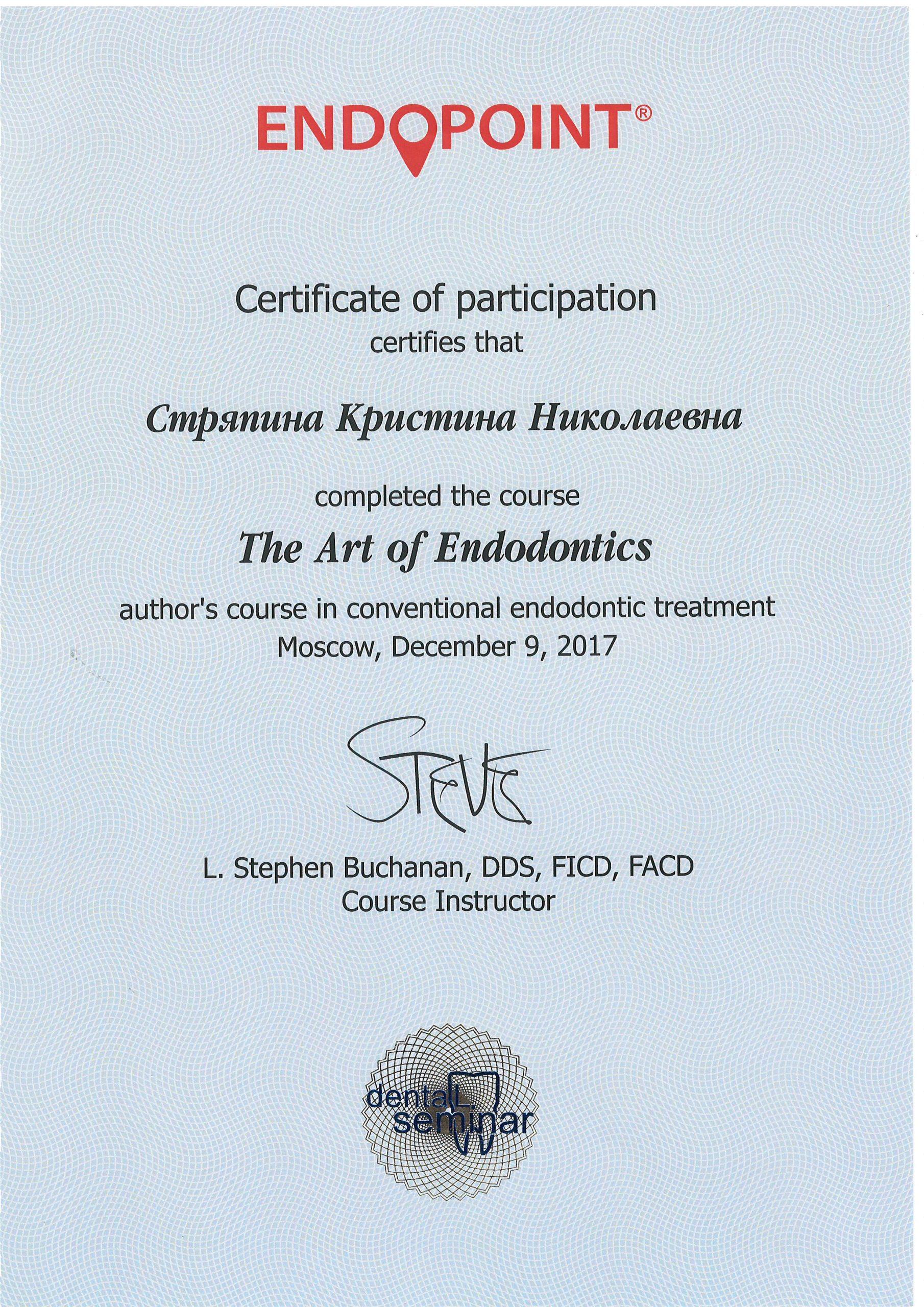 Сертификат Стряпиной Кристины (9.12.17)